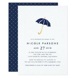 Blue Umbrella Baby Shower