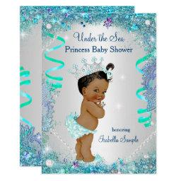 Blue Under The Sea Princess Baby Shower Ethnic