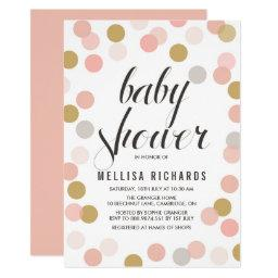 Blush & Gold Polka Dots Baby Shower