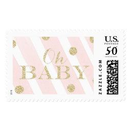 Blush Pink and Gold  | Oh Baby Postage
