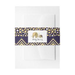 Bohemian Elephant and Chevron Baby Shower  Belly Band