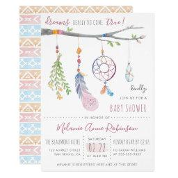 Boho Dream Catcher & Tribal Feathers Baby Shower