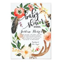 Boho feathers Baby Shower