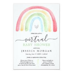 Boho Rainbow Virtual Baby Shower Invitation