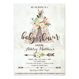 Boho TeePee baby shower