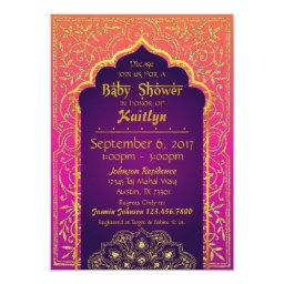 Bollywood Arabian Nights Baby Shower Invitation