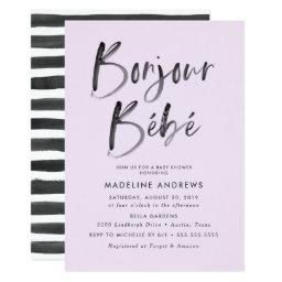 Bonjour Bebe | French Baby Shower Invitation