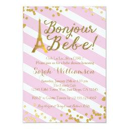 Bonjour Bebe Paris Girl Baby Shower