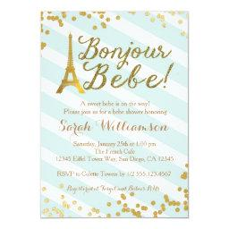 Bonjour Bebe Paris Green Baby Shower