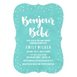 Bonjour Bebe Watercolor Baby Shower