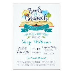 Books and Brunch Baby Shower  - Blue