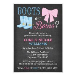 Boots or Bows Gender Reveal Party Baby Shower