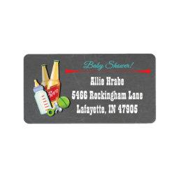 Bottles and Beer Baby shower return address labels