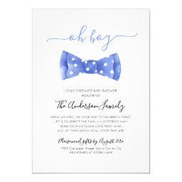 Bow Tie Baby Shower By Mail Long Distance Invitation