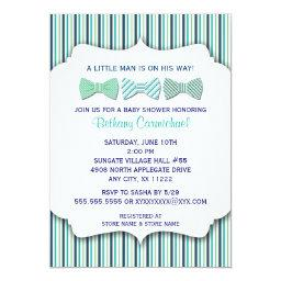 Bow Tie Baby Shower  / navy turquoise