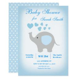 Boy Baby Shower Blue Elephant