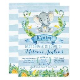 Boy Baby Shower , Elephant Baby Shower