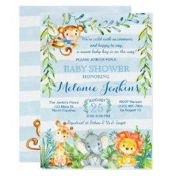 Monkey Baby Shower Invitations BabyShowerInvitations4U