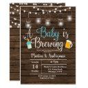 Boy Babyq Invitation Coed Bbq Baby Brewing Invite