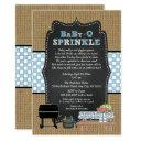 Boy Babyq Sprinkle, Bbq Baby Shower, Baby Q Invitations
