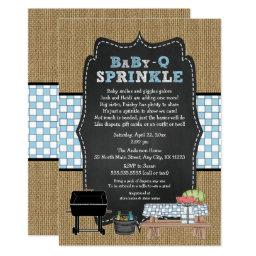 BOY BabyQ Sprinkle, BBQ Baby Shower, BABY Q