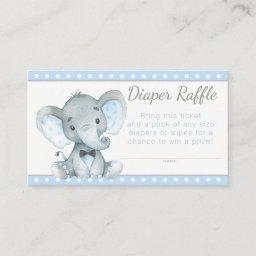 Boy Elephant Diaper Raffle Tickets Enclosure