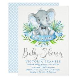 Boys Baby Elephant Baby Shower Invitationss
