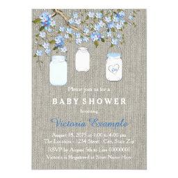 Boys Burlap Baby Shower