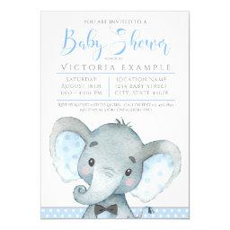 Boys Cute Elephant Baby Shower