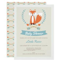 Boys Fox And Arrows Baby Shower