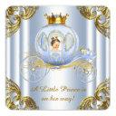 Boys Prince Royal Carriage Prince Baby Shower Invitation