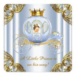 Royal prince baby shower invitations babyshowerinvitations4u boys prince royal carriage prince baby shower invitation filmwisefo