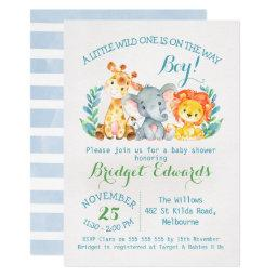 Boy's Safari Animals Baby Shower