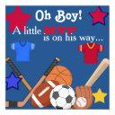 Boys Sports Baby Shower Invitation Hockey