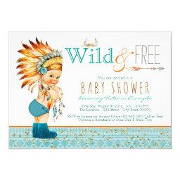 Boys Tribal Wild and Free Baby Shower
