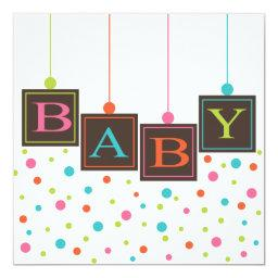 Bright BABY Blocks of Colors Neutral Baby Shower
