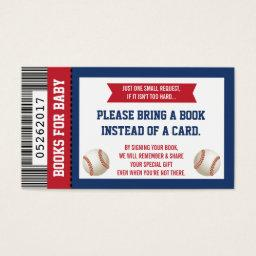 Bring A Book , Sports Ticket, Baby Shower