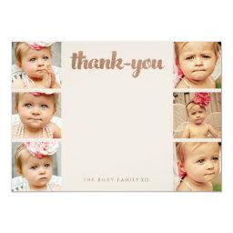 Bronze Baby Thank You 6 Photo Frame Flat