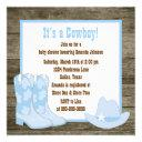 Brown And Blue Cowboy Boots Cowboy Baby Shower Invitation