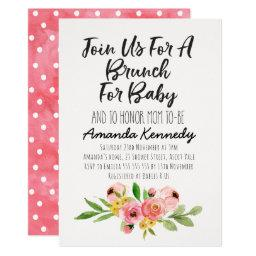 Brunch Calligraphy Floral Baby Shower