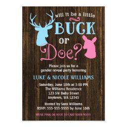 Buck or Doe Gender Reveal Party