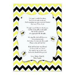 Bumble Bee  Thank You Note with poem