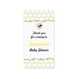 Bumble Bee Hive  Favor Labels