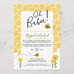Bumble Bee Long-distance Virtual Baby Shower Invitation