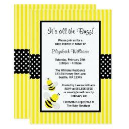 Bumble Bee Striped Dots