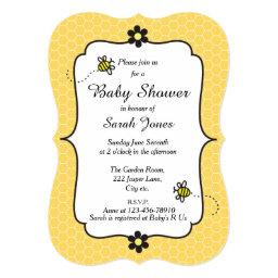 Bumble Bee Themed Baby Shower