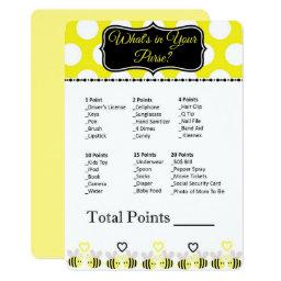 Bumble Bee What's in Your Purse?  Game