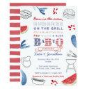 Bun In The Oven, Burgers On The Grill Baby Shower Invitation