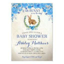 Bunny BABY SHOWER boy Beautiful Floral