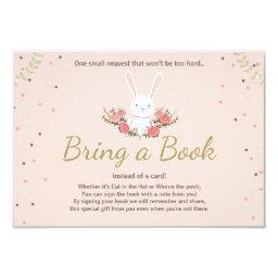 Bunny Baby Shower Bring a book  Spring Floral